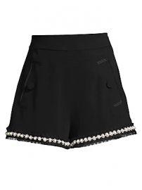 Alexis - Kendrick Imitation Pearl-Trim A-Line Shorts at Saks Fifth Avenue