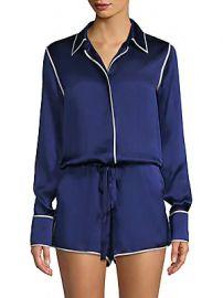 Alexis - Lareyne Twist Silk Pajama Romper at Saks Fifth Avenue