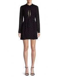 Alexis - Leila Tie Neck Mini Dress at Saks Fifth Avenue