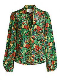 Alexis - Minu Linen  amp  Cotton Floral Blouse at Saks Fifth Avenue