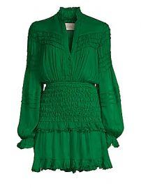 Alexis - Shaina Shirred Silk Mini Dress at Saks Fifth Avenue