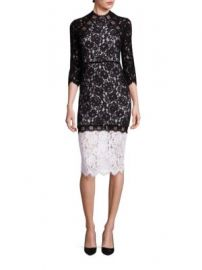 Alexis - Whitney Lace Colorblock Dress at Saks Fifth Avenue