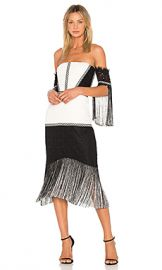 Alexis Antoinette Dress in Black  amp  White Lace from Revolve com at Revolve