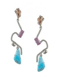 Alexis Bittar - 10K Goldplated Crystal Maze Fancy Stone Post Earrings at Saks Fifth Avenue