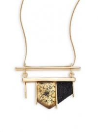 Alexis Bittar - Crystal-Encrusted Lucite Pendant Necklace at Saks Fifth Avenue