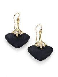 Alexis Bittar - Kinshasa Lucite and Crystal Baguette Flint Drop Earrings at Saks Fifth Avenue