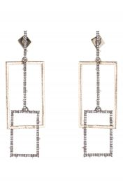 Alexis Bittar Brutalist Butterfly Crystal Encrusted Linear Earrings at Nordstrom