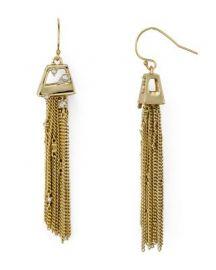Alexis Bittar Chain Tassel Drop Earrings at Bloomingdales