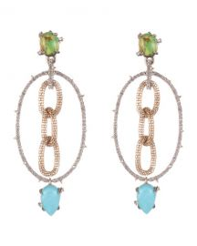 Alexis Bittar Multi Stone Mesh-Link Dangle Earrings at Neiman Marcus