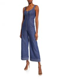 Alexis Bristol Zip-Front Denim Jumpsuit at Neiman Marcus
