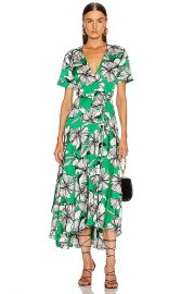 Alexis Deanna Dress in Emerald Floral   FWRD at Forward