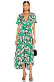 Alexis Deanna Dress in Emerald Floral   FWRD at Forward