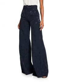 Alexis Donira Bengal High-Waist Belted Suit Pants at Neiman Marcus