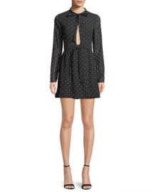 Alexis Leila Printed Long-Sleeve Mini Dress at Neiman Marcus