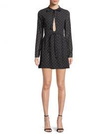 Alexis Leila Printed Long-Sleeve Mini Dress at Neiman Marcus