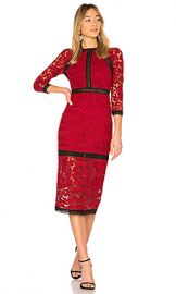 Alexis Randie Lace Midi Dress in Dark Red Lace from Revolve com at Revolve
