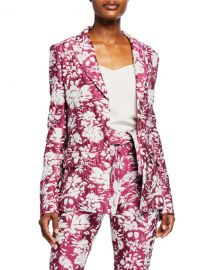 Alexis Raquelle Belted Jacquard Jacket at Neiman Marcus