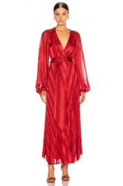 Alexis Salomo Dress in Red Geo Stripes   FWRD at Forward