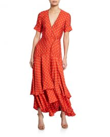 Alexis Sundara Printed Short-Sleeve Wrap Dress at Neiman Marcus