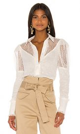 Alexis Virginia Top in White from Revolve com at Revolve