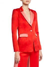 AlexisNevra Satin Single-Button Blazer at Neiman Marcus