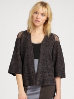 Alexs brown cropped cardigan at Saks Fifth Avenue