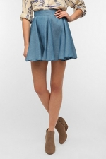 Alex's chambray circle skirt at Urban Outfitters