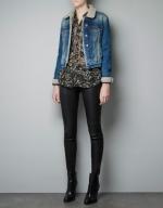 Alex's denim jacket from Zara at Zara