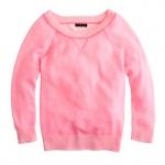 Alex's pink sweater at Jcrew at J. Crew
