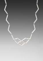 Alexs silver zig zag necklace at Revolve