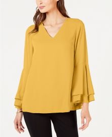Alfani Bell-Sleeve Blouse  Created for Macy s   Reviews - Tops - Women - Macy s at Macys