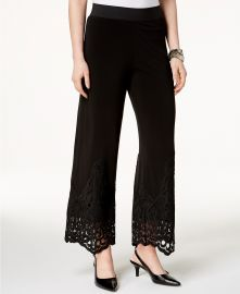 Alfani Lace-Trim Pull-On Pants  Created for Macy s    Reviews - Pants   Capris - Women - Macy s at Macys