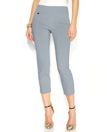 Alfani Petite Tummy-Control Pull-On Capri Pants at Macys
