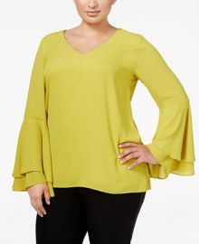 Alfani Plus Size Bell-Sleeve Blouse  Created for Macy s at Macys