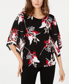 Alfani Printed Poncho-Sleeve Top  Created for Macy s    Reviews - Tops - Women - Macy s at Macys