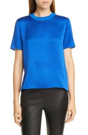 Ali Hammered Silk Short Sleeve Top at Nordstrom Rack