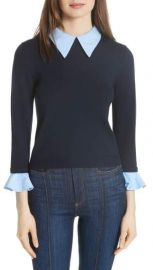 Alice   Olivia Aster Ruffle Cuff Sweater at Nordstrom