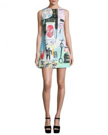 Alice   Olivia Clyde Graffiti-Print Shift Dress at Neiman Marcus