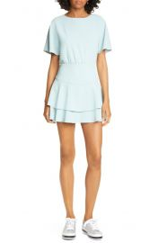Alice   Olivia Palmira Tie Back Ruffle Tiered Minidress   Nordstrom at Nordstrom