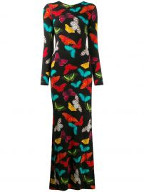 Alice Olivia Rosaria butterfly-print maxi dress Rosaria butterfly-print maxi dress at Farfetch