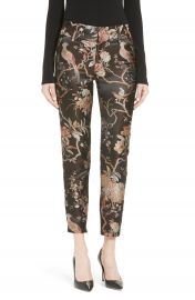 Alice   OIivia Stacey Brocade Crop Trouser at Nordstrom