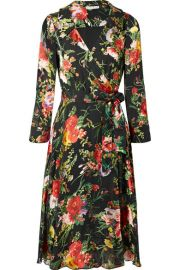 Alice   Olivia   Abney floral-print burnout-chiffon wrap dress at Net A Porter
