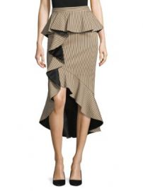 Alice   Olivia - Alessandra Peplum Ruffle Pencil Skirt at Saks Fifth Avenue