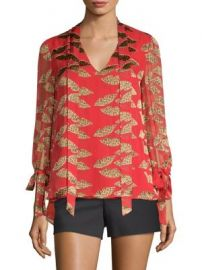 Alice   Olivia - Alice   Olivia x Donald Sheila Tie-Neck Blouse at Saks Fifth Avenue