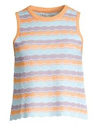 Alice   Olivia - Antonella Stripe Knit Tank at Saks Fifth Avenue