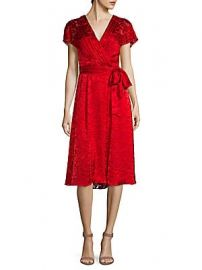 Alice   Olivia - Aria Faux-Wrap Dress at Saks Off 5th