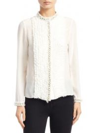 Alice   Olivia - Arminda Ruffled Blouse at Saks Fifth Avenue