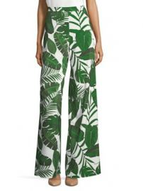 Alice   Olivia - Athena Leaf Print Wide Leg Pants at Saks Fifth Avenue