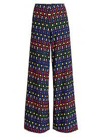Alice   Olivia - Athena Printed Wide-Leg Pants at Saks Fifth Avenue