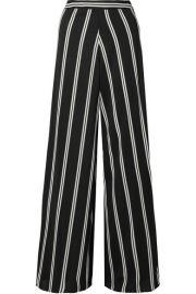 Alice   Olivia   Athena striped georgette wide-leg pants at Net A Porter